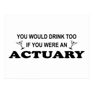 余りに飲み物の-保険計理人 ポストカード
