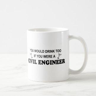 余りに飲み物の-土木技師 コーヒーマグカップ