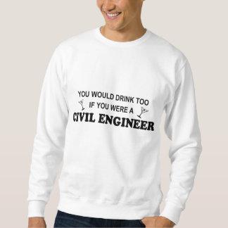 余りに飲み物の-土木技師 スウェットシャツ