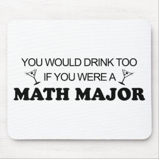 余りに飲み物の-数学専攻学生 マウスパッド