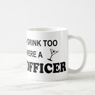 余りに飲み物の-警官 コーヒーマグカップ