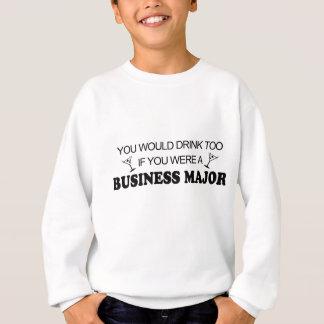 余りに飲み物-ビジネス専攻学生 スウェットシャツ