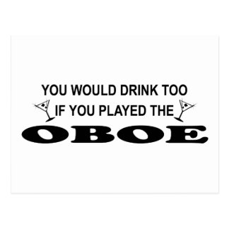 余りに飲み物- Oboe ポストカード