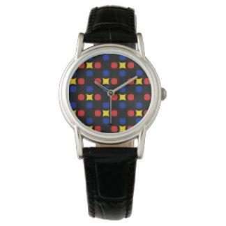 余りにPopartのプリント 腕時計