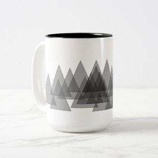 余分に広く木の透明な森林! ツートーンマグカップ