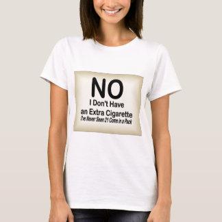 余分タバコ無し Tシャツ