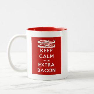 余分ベーコンとの平静を保って下さい ツートーンマグカップ