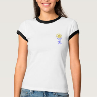 余分生命チームテーブルの上のタイタンの女性のTシャツ Tシャツ