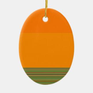 作り直されたカラーフィールド・ペインティングはロバートS.リーによって及び縞で飾ります セラミックオーナメント