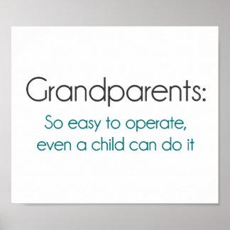 作動するべき祖父母従って簡単 ポスター