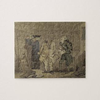 作家および彼の出版業者1784年(灰色の洗浄 ジグソーパズル