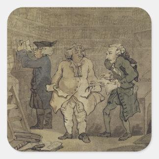 作家および彼の出版業者1784年(灰色の洗浄 スクエアシール