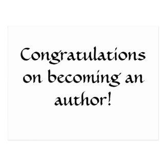 作家になることのお祝い! ポストカード