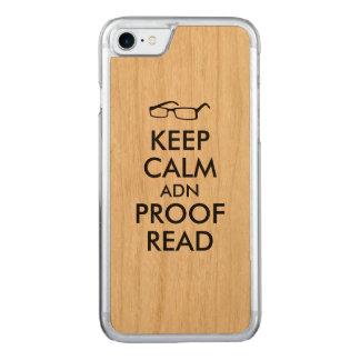 作家のために平静を保ち、校正して下さい CARVED iPhone 8/7 ケース