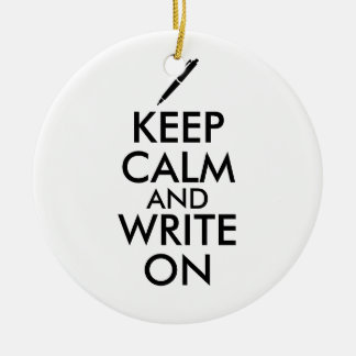 作家のギフトは平静を保ち、ペンのカスタムで書きます セラミックオーナメント