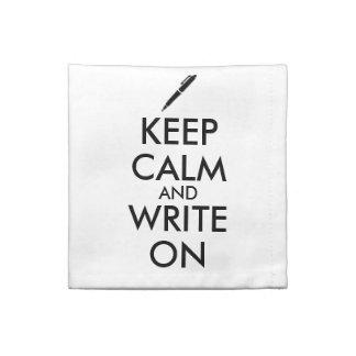 作家のギフトは平静を保ち、ペンのカスタムで書きます ナプキンクロス