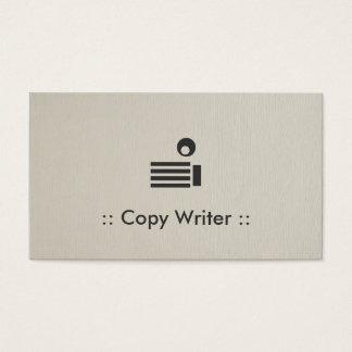 作家のシンプルでエレガントなプロフェッショナルをコピーして下さい 名刺