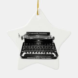 作家のタイプライターの作家の小説家の作家のオーナメント セラミックオーナメント