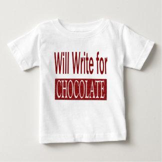 作家のチョコレートギフトのために書きます ベビーTシャツ