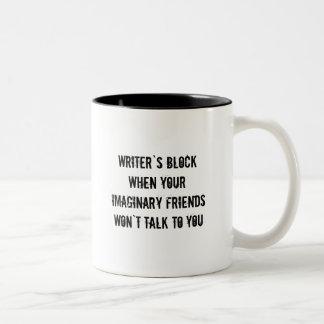 作家のブロックのコーヒーカップ ツートーンマグカップ