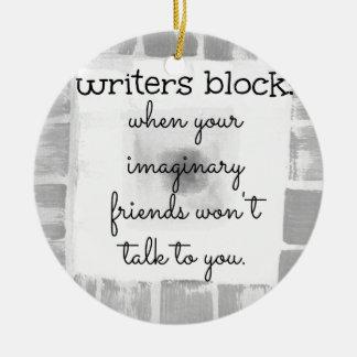 作家のブロック セラミックオーナメント