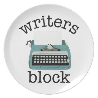 作家のブロック プレート