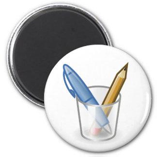 作家のペンの鉛筆のコップ マグネット