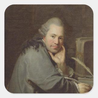 作家のポートレート、1772年 スクエアシール