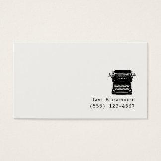 作家の編集者のタイプライターの名刺 名刺
