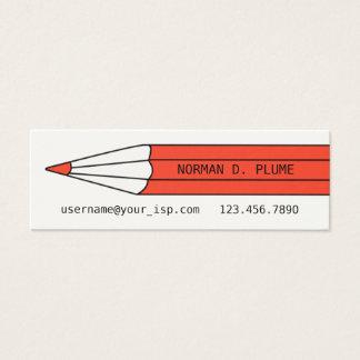 作家の編集者の鉛筆の名刺のテンプレート スキニー名刺