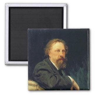 作家の計算Alexey K. Tolstoyのポートレート マグネット