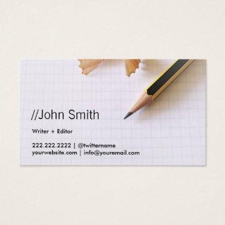 作家または編集者のきれいで鋭い鉛筆 名刺