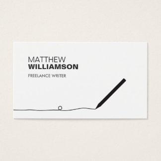 作家及び作家のための鉛筆の名刺 名刺