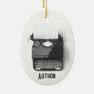 作家、ジャーナリスト、ブロガーのための古いタイプライター セラミックオーナメント