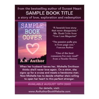 作家|作家|プロモーション|本|カバー|紫色|黒 カスタムチラシ