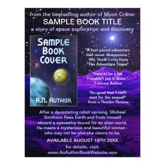 作家|作家|本|プロモーション|宇宙|科学フィクション チラシ広告デザイン