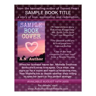 作家|作家|本|プロモーション|紫色|ポルカ|点 フルカラーチラシ