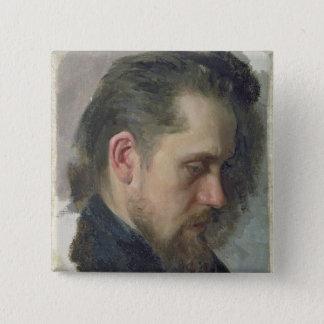 作家Nikolay Pomyalovskyのポートレート、1860年 5.1cm 正方形バッジ