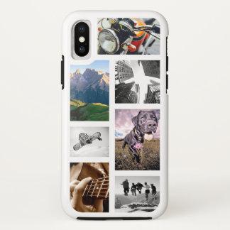 作成あなたの自身の写真かアートワークまたはロゴのイメージのコラージュ iPhone X ケース