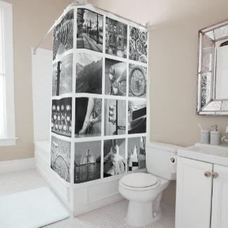 作成あなたの自身の写真のコラージュのシャワー・カーテン シャワーカーテン