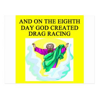 作成されられたドラッグの競争 ポストカード