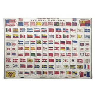 作成されるヴィンテージの国旗の図表- 1863年 ランチョンマット