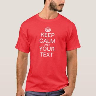 """作成して下さいあなた専有物を""""保ちましたり平静を及び続けていきます"""" Tシャツ"""