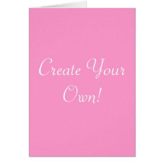 作成して下さい|あなたの|所有するため|ピンク|白い グリーティングカード
