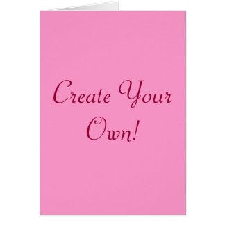 作成して下さい|あなたの|所有するため|ピンク|白い|I グリーティングカード