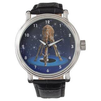 作成のキリン 腕時計