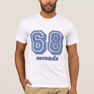 作成の青のTシャツへの68秒 Tシャツ