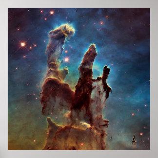 作成のHDRのワシの星雲の柱 ポスター