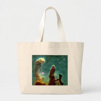 作成のM16ワシの星雲か柱 ラージトートバッグ