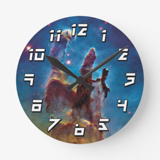 作成M16のワシの星雲の宇宙の写真の柱 ラウンド壁時計